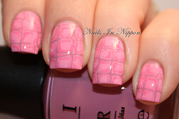 nails in nippon pink alligator