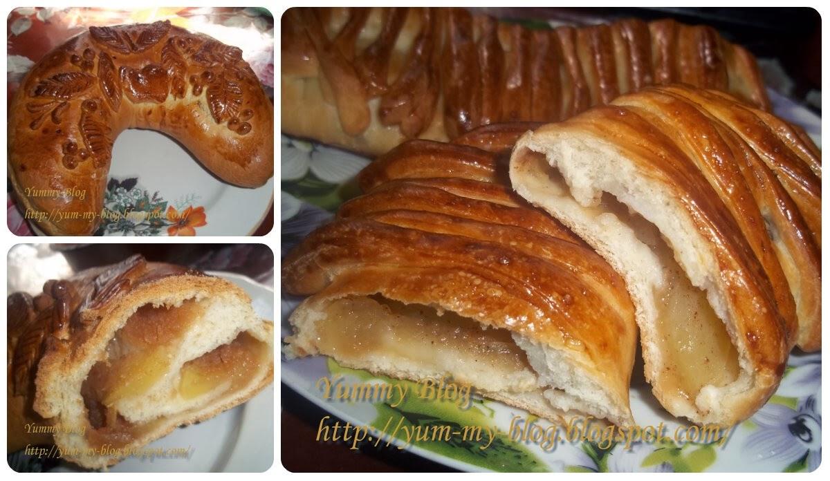 Пирог с свежими яблоками из дрожжевого теста рецепт с