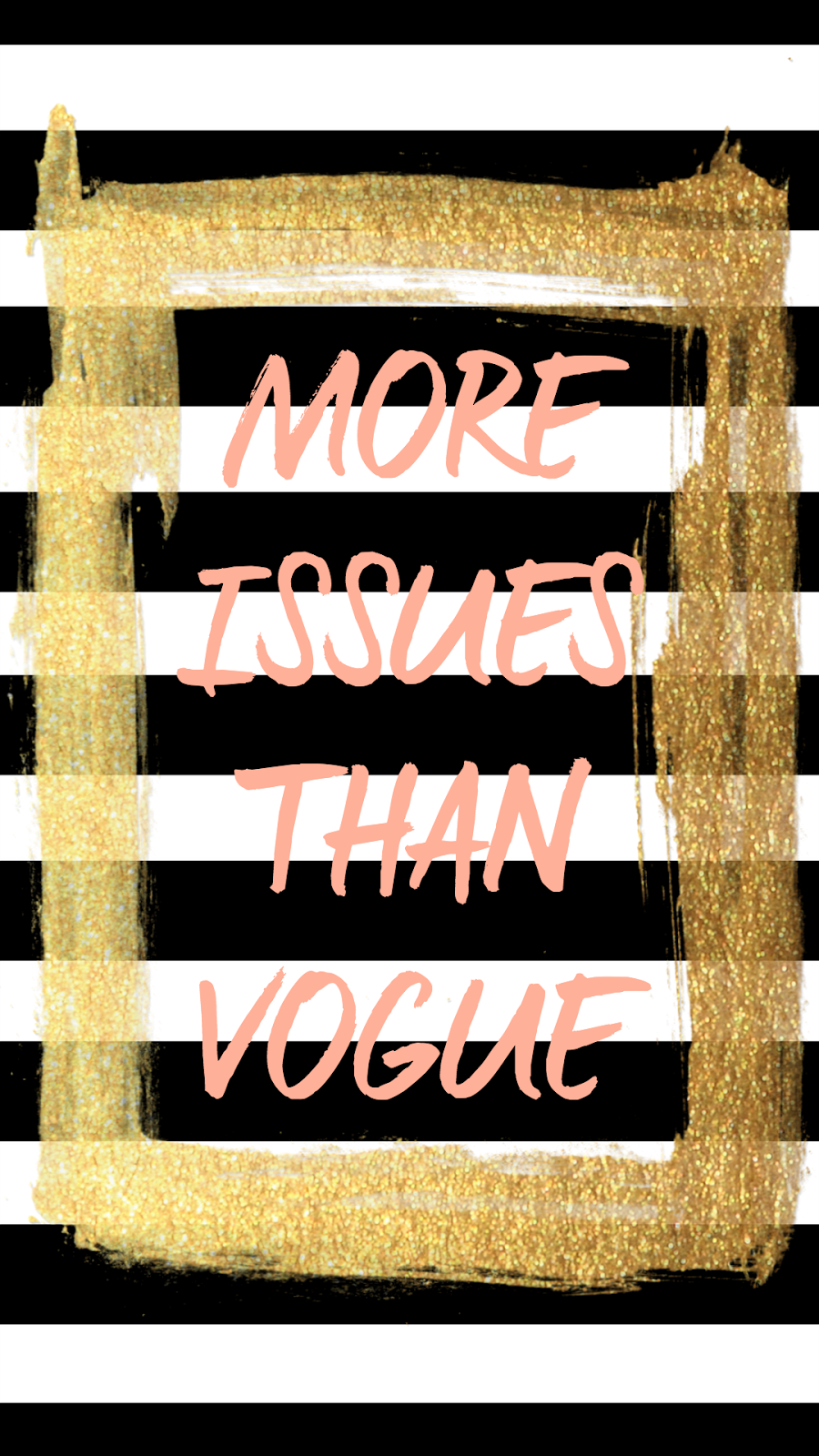 """FREE tech wallpaper 'More Issues Than Vogue"""" from Glitter&Bow blog"""