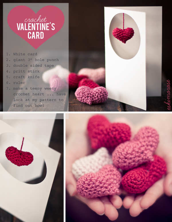 crochet valentine's card by eskimo*rose
