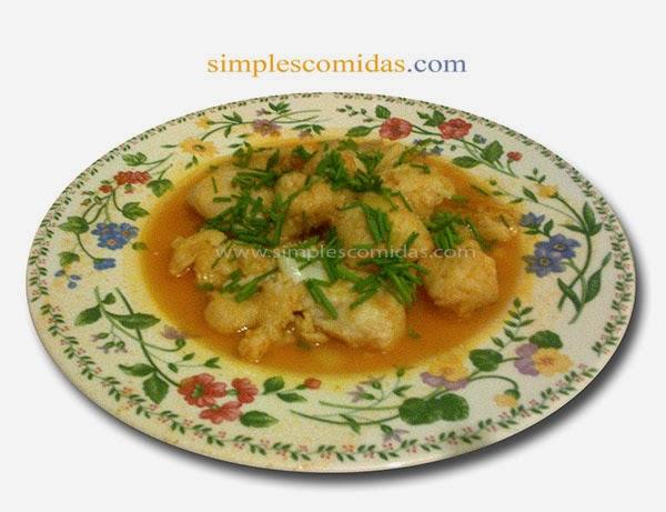 sopa simple de pescado