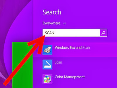 scan images in windows 8