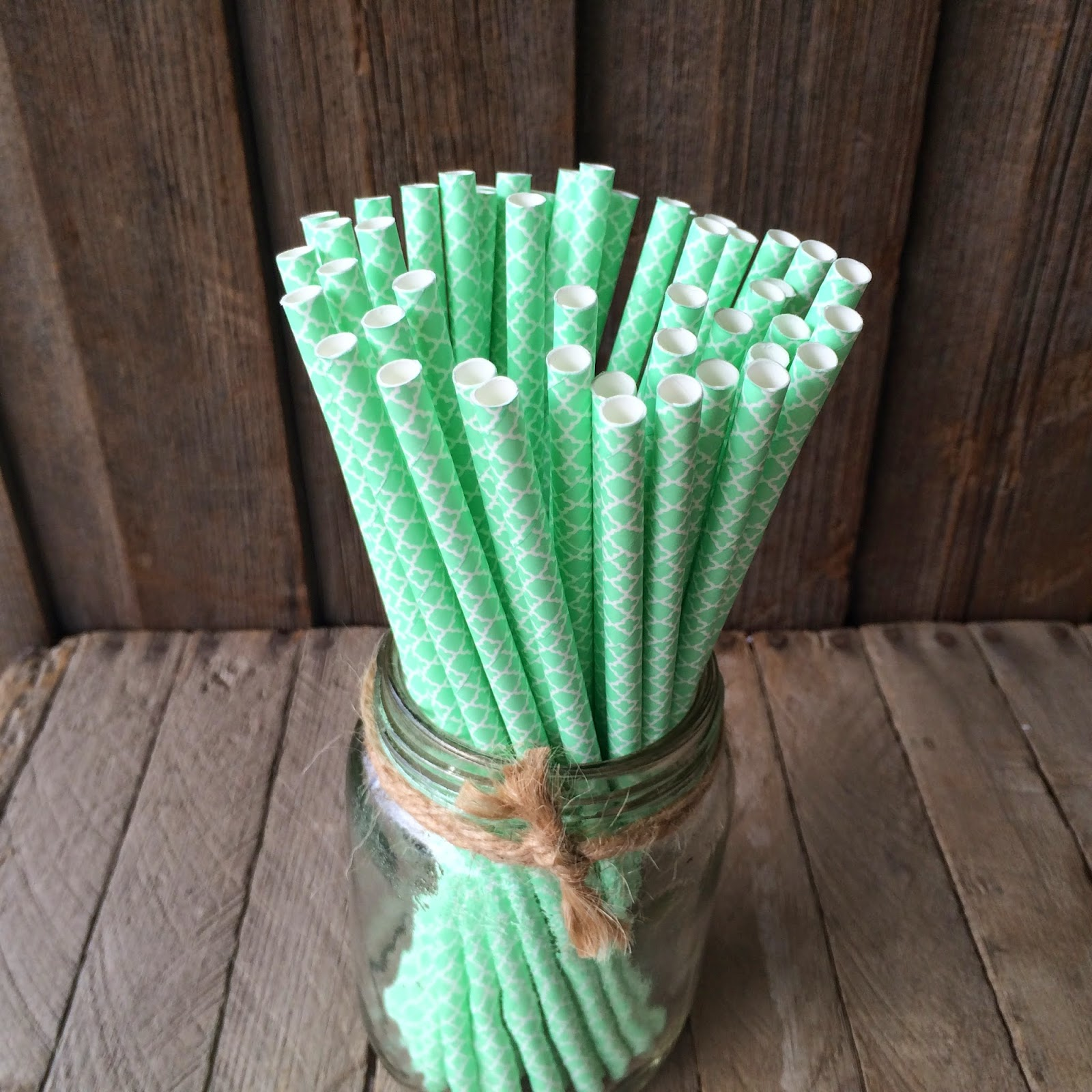 Mint Paper Straws Outside the Box Papers