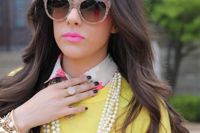 "<img alt=""fall fashion, fashion 2014, brunette hair, long brown hair, kslademade, jcrew, jcrew factory, hot pink skirt, forever 21, fashion blogger, style blogger, affordable fashion, michael kors watch, pearl bracelet, tassels, zara, zara sandals, prada sunglasses"