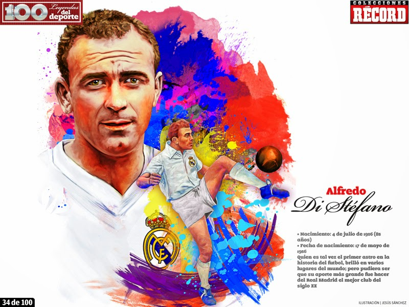 Celebrities, Alfredo Di Stéfano, Argentina, Spain, River Plate, Real Madrid, Boca Juniors, Valencia, Football, Colombia,
