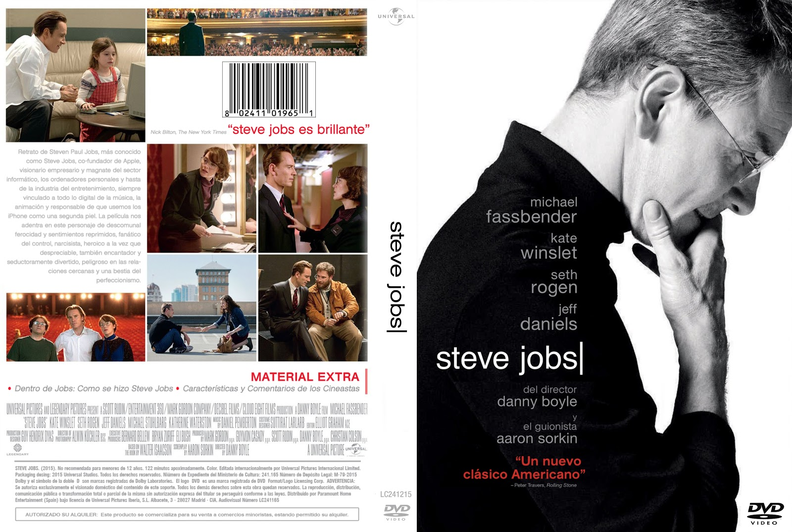 steve jobs dvd Retrato de Steven Paul Jobs, ms conocido como Steve Jobs, co-fundador de Apple, visionario empresario y magnate del sector informtico, los ordenadores ...