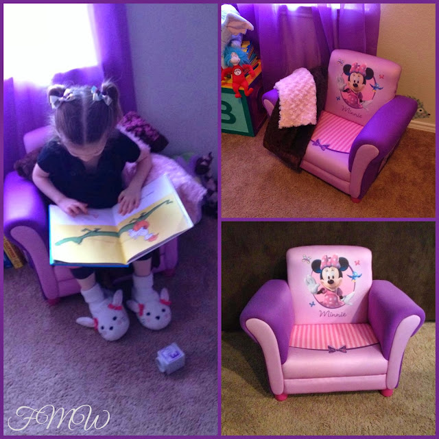 Ordinaire My Daughter As You Can See Above, Fits Perfectly In The Minnie Mouse  Upholstered Chair. She Absolutely Adores It And I As Well. The Chair Is  Very Sturdy And ...
