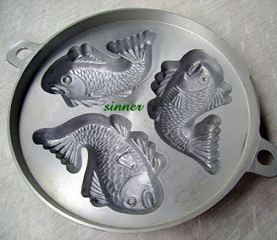 kuih bahlu fish mould