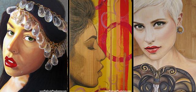 beauty art, portrait artist, mixed media artist, malinda prudhomme, artist one year anniversary, full time artist