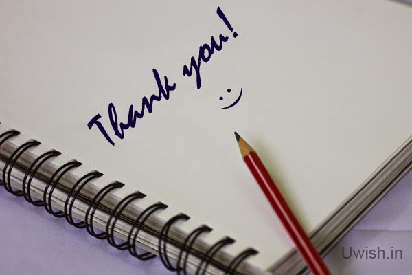 Thank you e greeting cards and wishes with a smile.