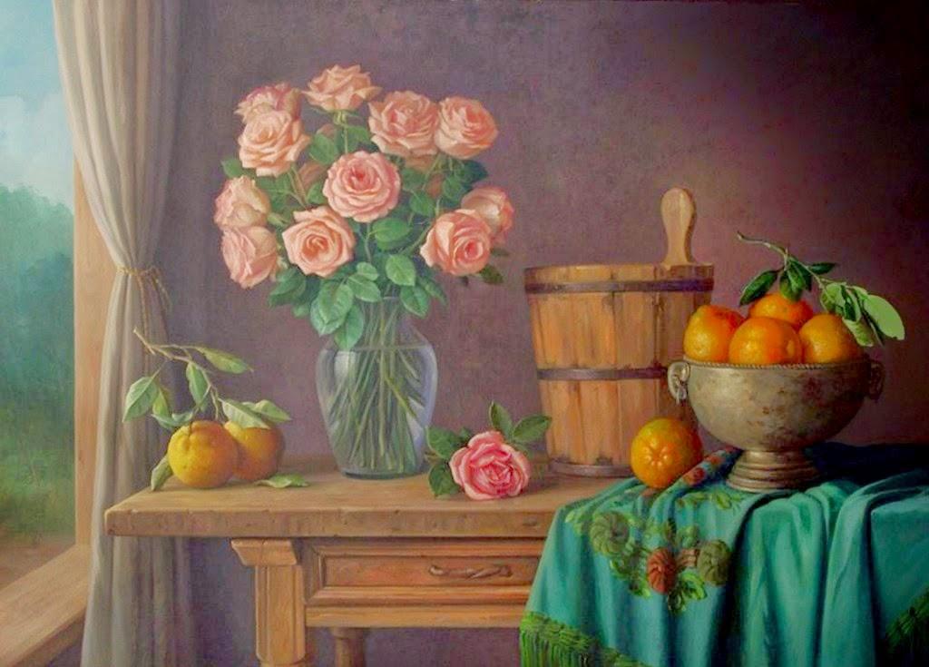 ver-cuadros-de-flores-frutas-y-vegetales-pintados
