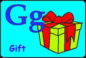 Карточка английской буквы G