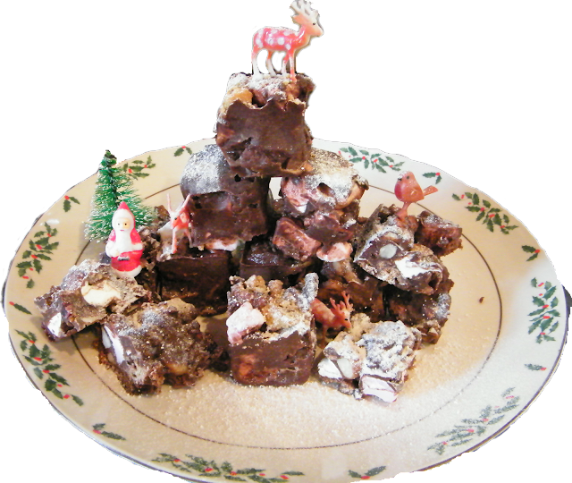Nigella Christmas Cake Decoration : Wasting Time And Space: Rocky Road Cubes (Without The ...