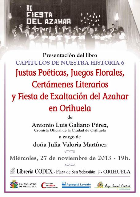 librería codex orihuela concejalía cultura cronista