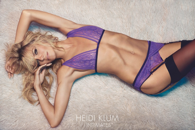 Heidi Klum turns up the heat for her Intimates Campaign 2015