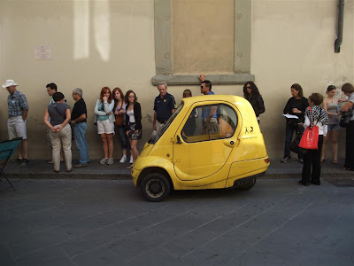 waiting in line to see the statue of david, florence italy,