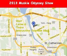 image link opens 2013 Muskie Odyssey Google Map in new window