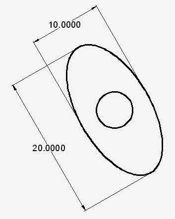 AutoCAD TUTORIAL: Chapter 2 Drawing tool > ellipse command