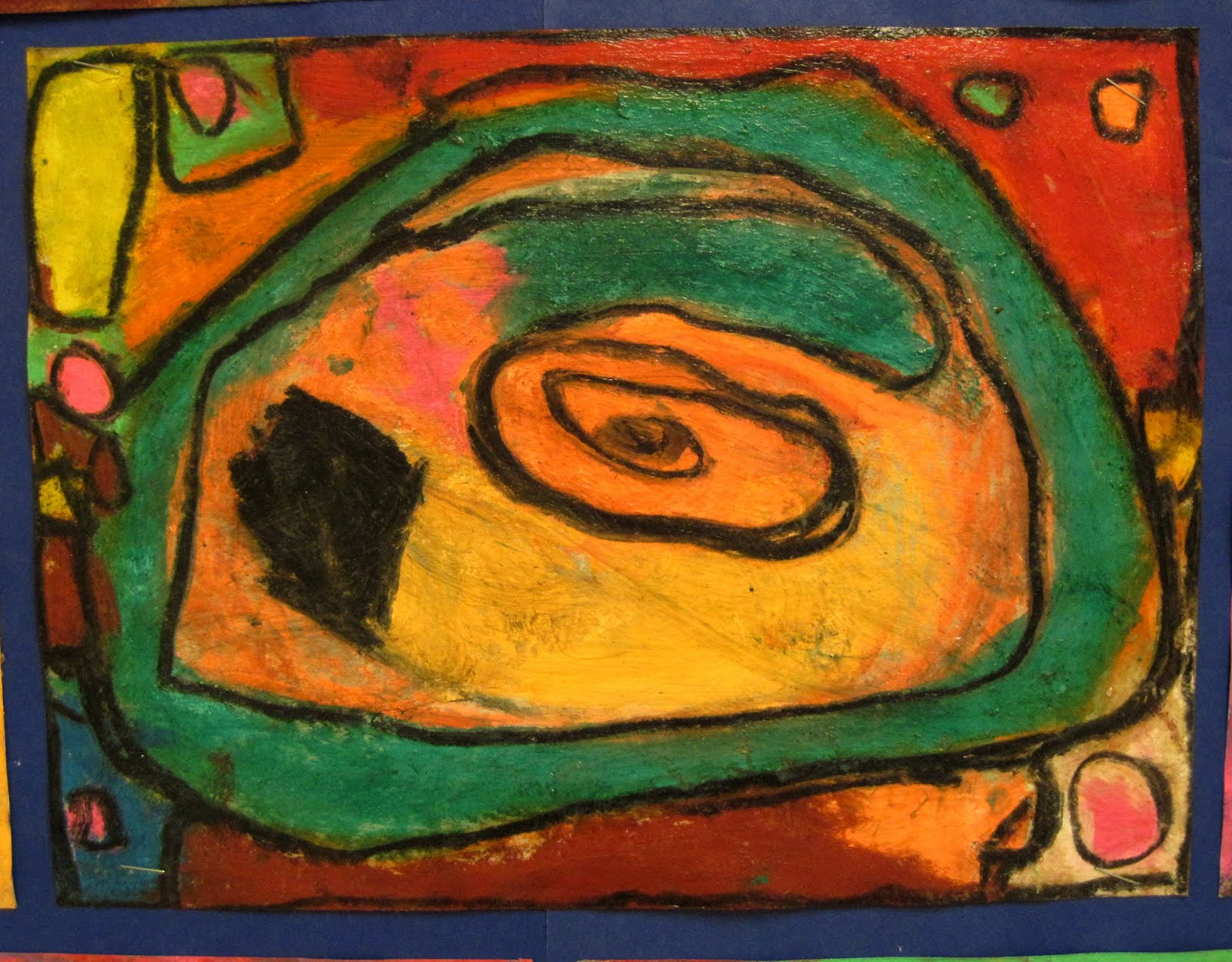There 39 S A Dragon In My Art Room Abstract Fun With Chalk