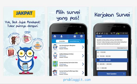 JakPat : Dapat Uang dan Pulsa Gratis Hanya Dengan Mengisi Survey di Android