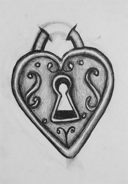 Heart Lock Tattoo Designs