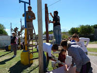 Jornada solidaria en la plaza Nuestra Señora de Luján de Tapalqué