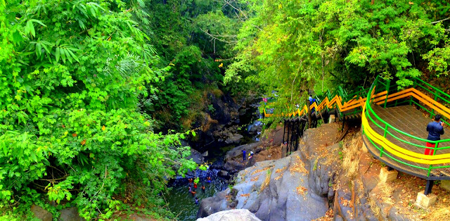 A top view of Kerala Kundu Waterfalls