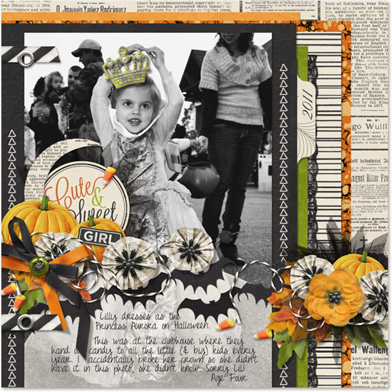 Digital Scrapbooking Halloween Layout