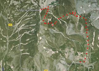 Image of trail to Cime de Pelousette