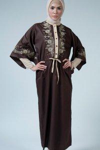 Manet Gamis 3196 - Coklat Tua (Toko Jilbab dan Busana Muslimah Terbaru)