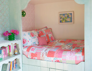 Children's Bedding - Room Seven Dentelle Bedding. Shown in a bedroom.