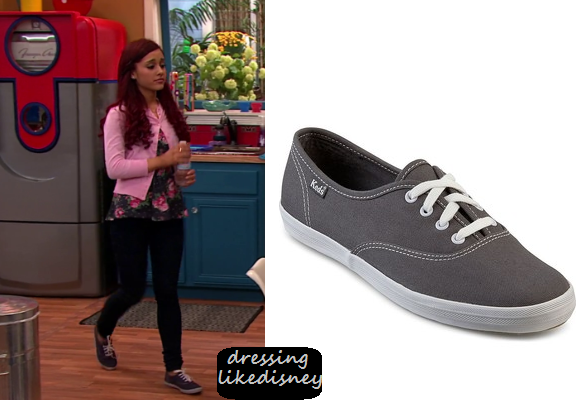 Sam & Cat: Season 1 Episode 3 Ariana's Gray Lace Up Canvas ...