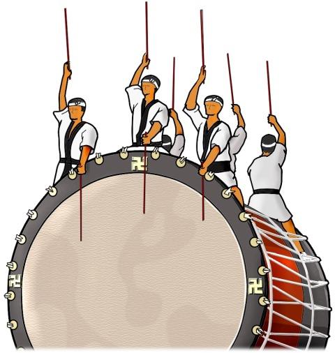 Neputa huge drum GOJOPPARI OH TAIKO