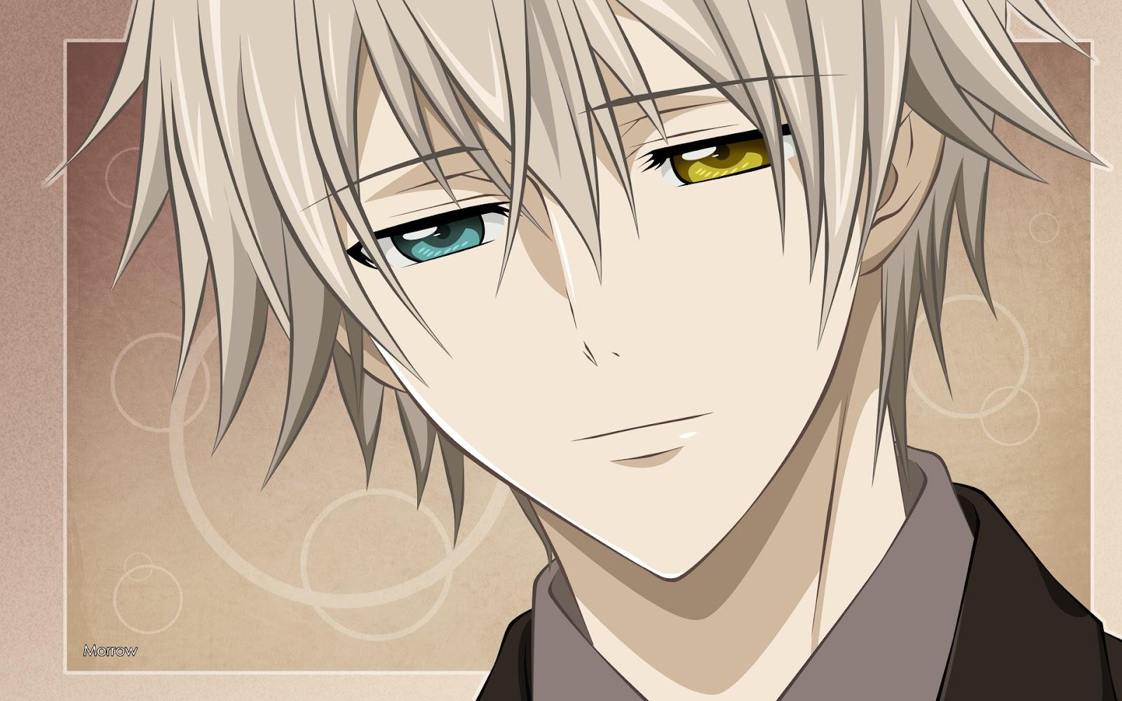 Anime Characters Yellow Eyes : Shadowy kisses space heterocromía