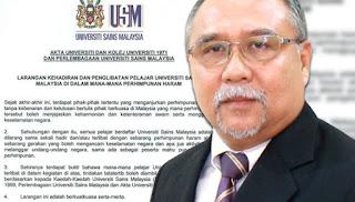 Pelajar USM sertai perhimpunan akan diambil tindakan
