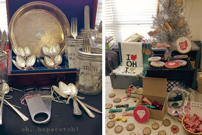 Sugar Camp booth, a homegoods and accessorie seller. Merchandising tips & tricks. via Oh, Hopscotch!