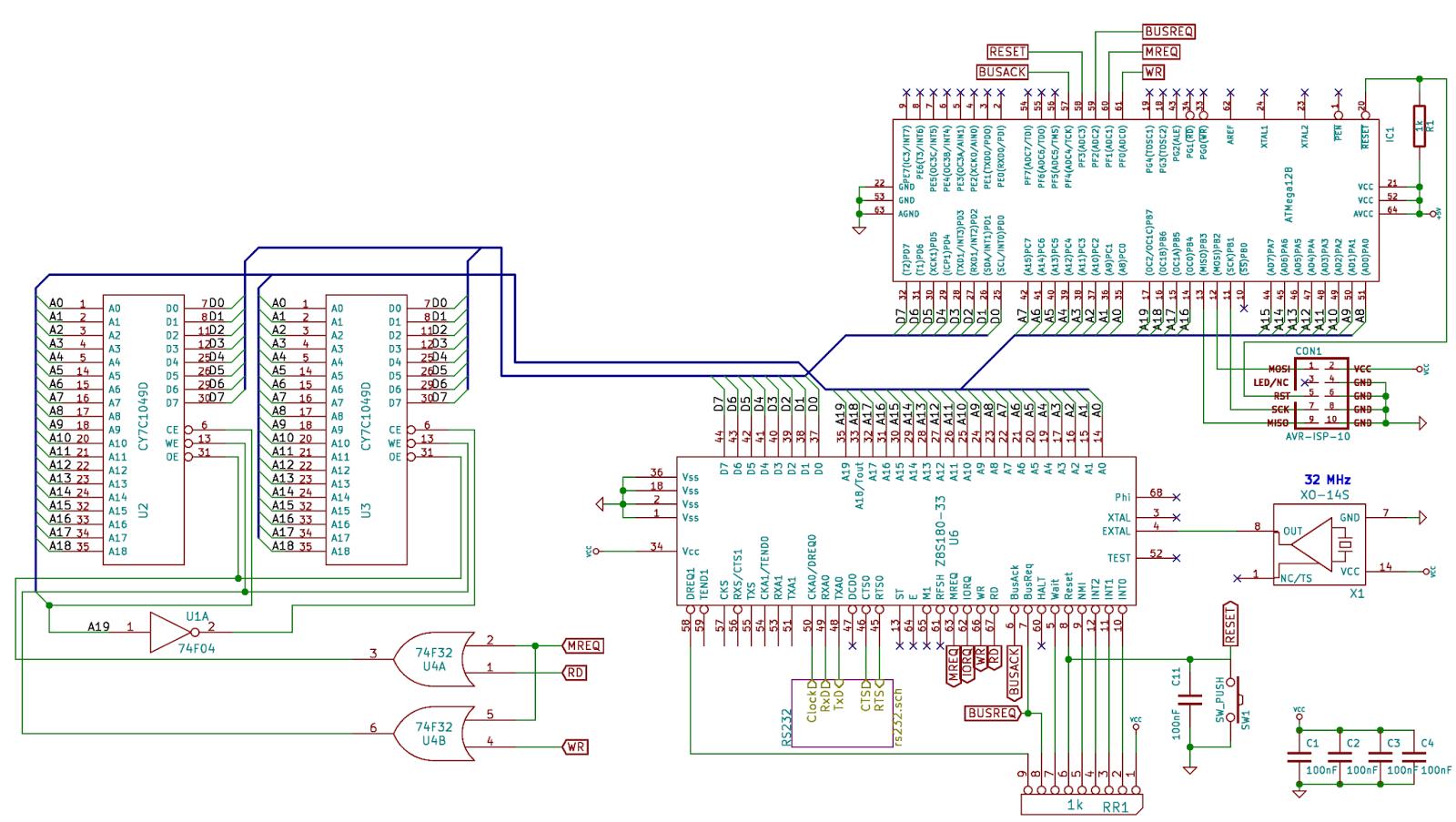 Hardware-Basteleien: Aktualisierter Schaltplan des Z8S180