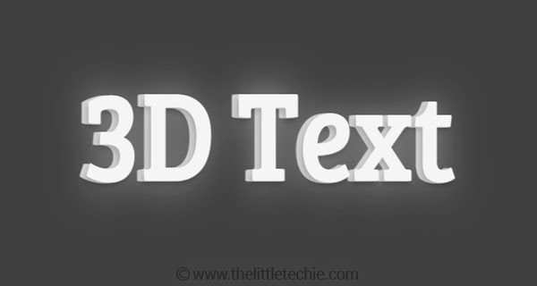 3D text using CSS3