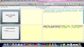 screenshot of Audio Notetaker