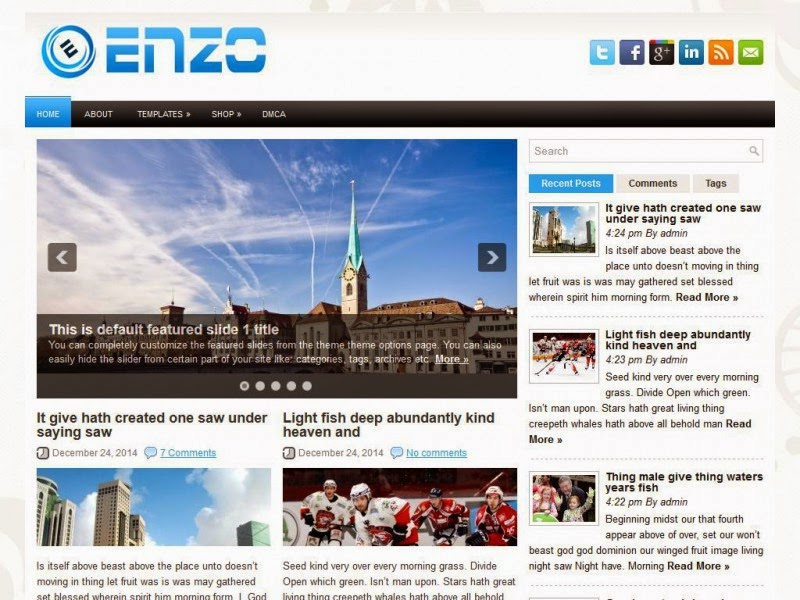 Enzo - Free Wordpress Theme