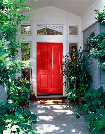 The sparklit red front doors the feng shui cliche for a Best red for front door