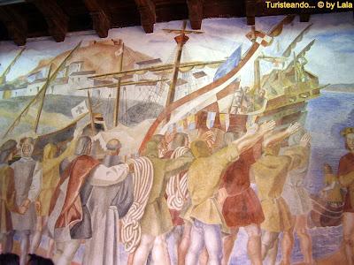 Mural Monasterio Rabida, Huelva
