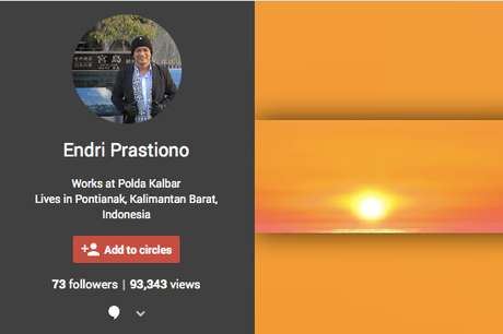 Akun Google Plus Milik AKBP Idha Endri