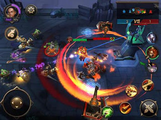 Screenshots of the Eternal arena for Android tablet, phone.