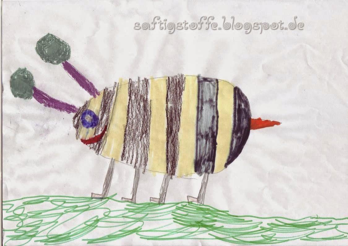 """Kinderzeichnung """"Biene"""""""