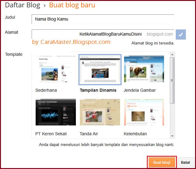 cara tercepat membuat blog untuk pemula