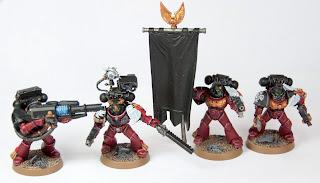 Flesh Tearers Devastator Sergeant, Flesh Tearers Command Squad Standard Bearer