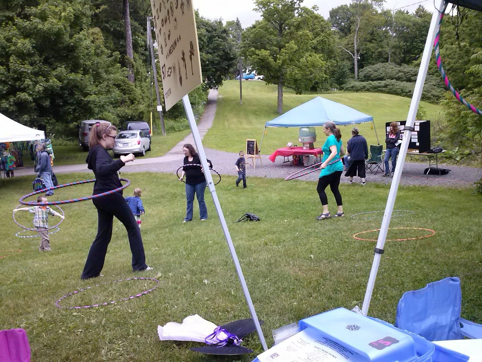 Hoola Hooping  at fairies in the park