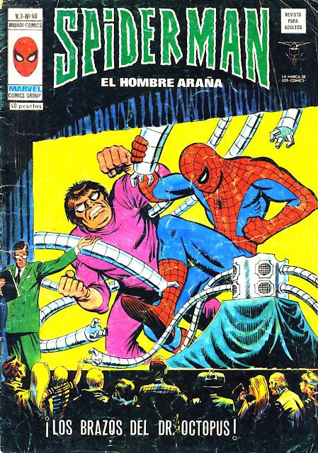 Portada de Spiderman Volumen 3 Nº 40 Ediciones Vértice