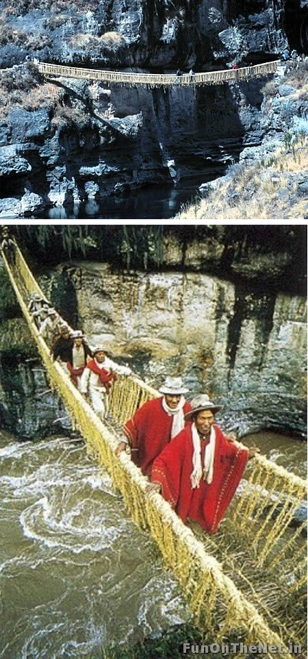 Inca Rope Bridge (Inca Empire, Peru)